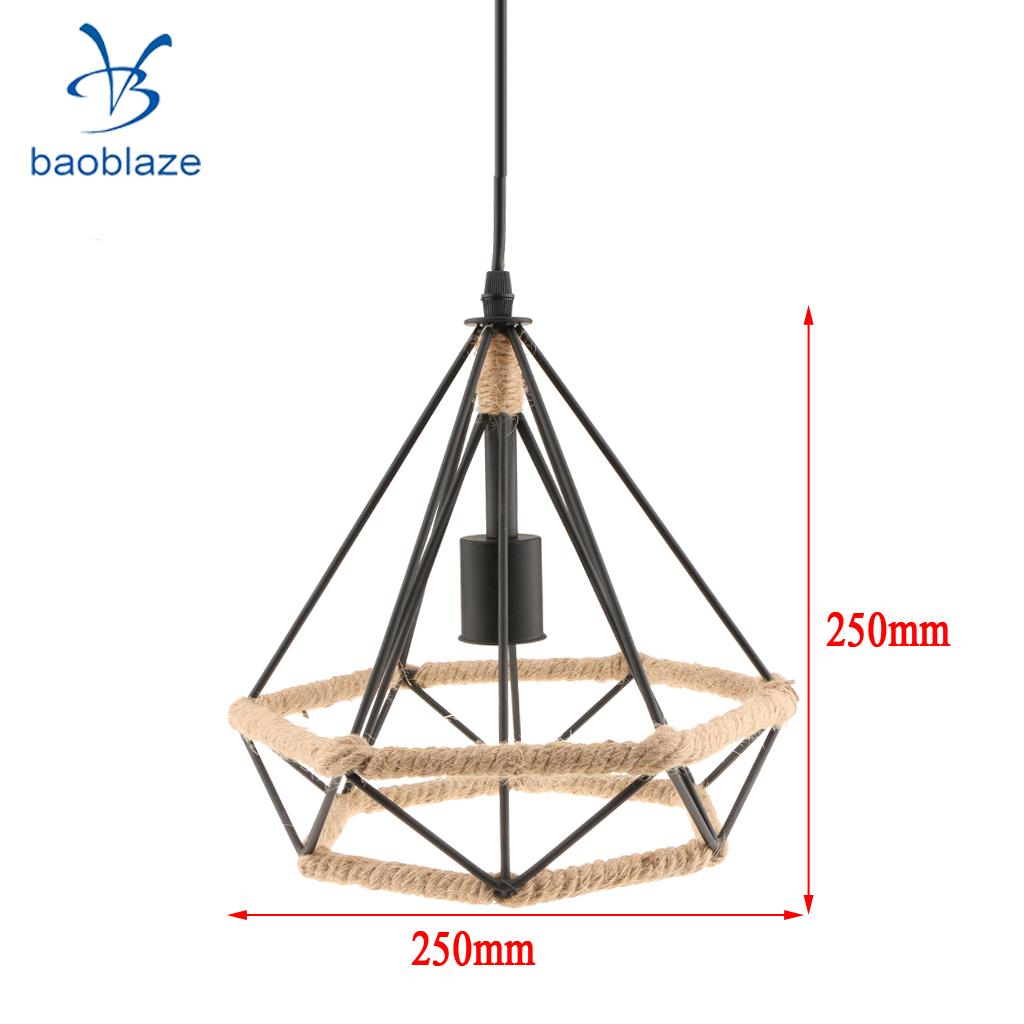 Creative Manila Rope Diamond Shaped Chandelier Ceiling Pendant ...