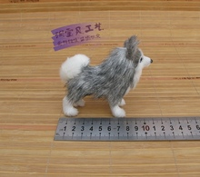 cute simulaiton mini husky dog toy polyethylene&fur small standing husky dog doll gift about 11x4x10cm 600