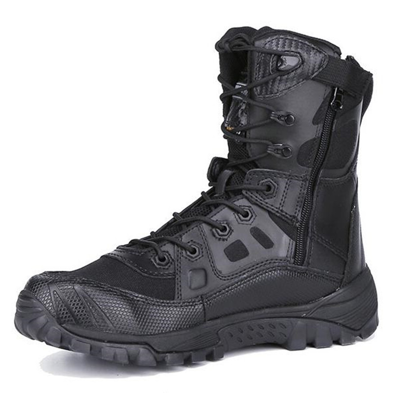 New Outdoor Tactical Boots Men Combat Boots Commando Breathable Desert Military Boots