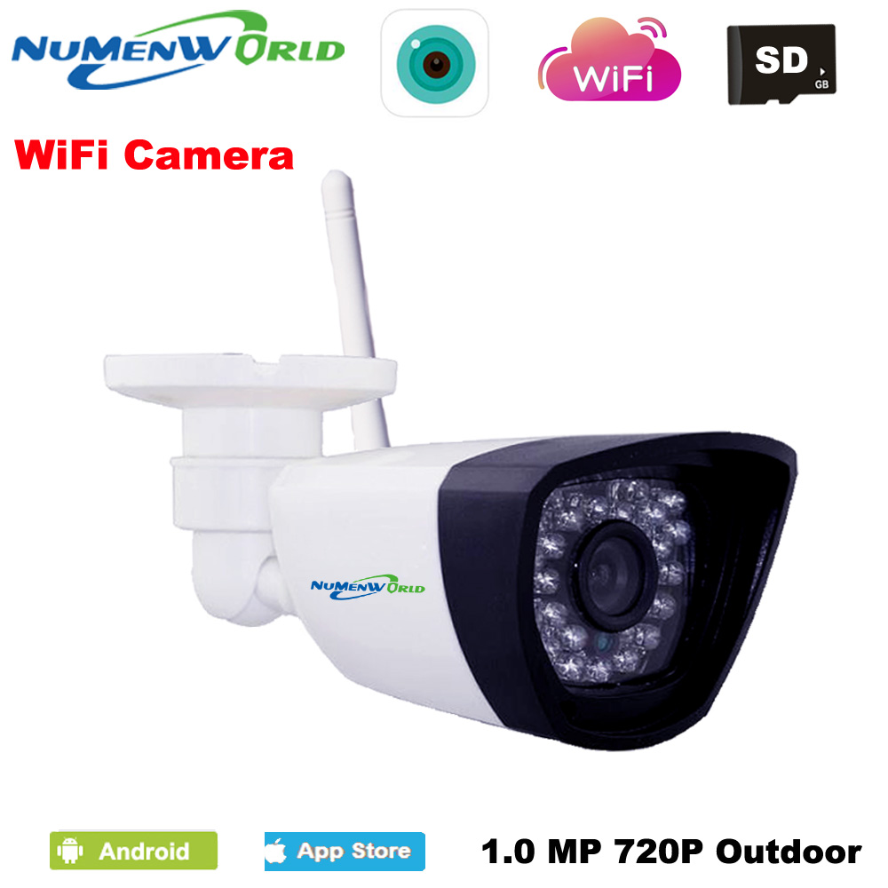 NumenWorld Wifi IP cam 720P SD HD P2P 802.11b/g/n Wireless network Wired IP Camera IR Outdoor Waterproof Camera IP recorder