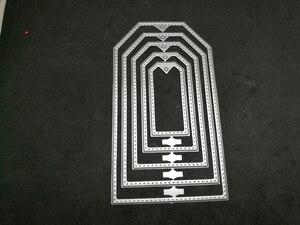 5 шт. тег frame резки металла умирает Трафареты для DIY Скрапбукинг/фотоальбом декоративное тиснение DIY Бумага карты