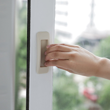 Hot Sell 2pcs Self-adhesive Plastic Door Handles Sliding Pull Window Handle Cupboard Cabinet Kitchen Drawer Portable Handles 20pcs plastic steel magnetic cabinet cupboard catch glasses window door catches pull clamps ark to suck white hg99