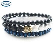 Shakyamuni Buddha Prayer Beads Bracelets Mens Classic Accessories Women's Fashion Jewelry Natural Stones Lucky Gifts 3 pcs 1 set