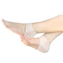 1 пара дышащий силикон носки для ног увлажняющий массажер с трещинкой предотвращает массажные изделия для ног уход за здоровьем