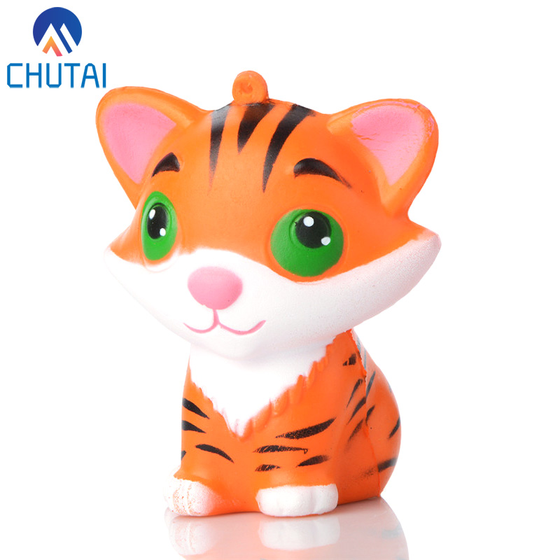 Kawaii Cute Little Tiger Squishy Slow Rising Soft Squeeze Fun Decompression Kids Toys Phone Straps Children's Toy Gifts 8*5CM