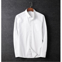 fashion style men s long sleeved shirt winter Season business suits shirt fitted cotton blending shirt