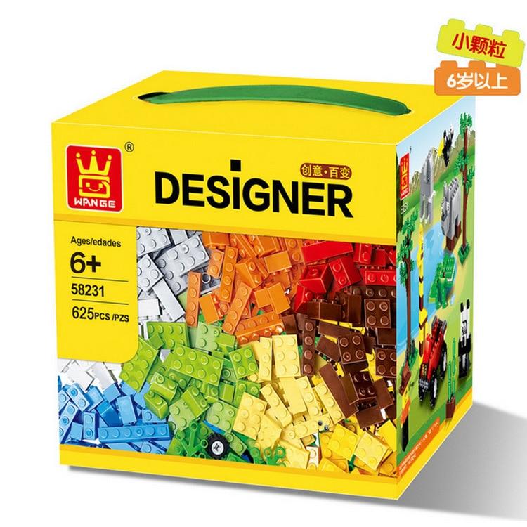 Building Blocks 625pcs DIY Creative Bricks Toys for Children Educational Toys Compatible legoe Bricks brinquedos Free