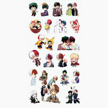 My Hero Academia Sticker Anime Stickers Waterproof Plastic Transparent Decal Toy Stiker For Phone Laptop Book anime black butler plastic stickers transparent decal sticker for phone laptop book and other flat sticker children toy sticker