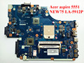 Rev 1.0 mbna102001 new75 la-5912p para acer aspire 5551 5251 laptop motherboard ddr3 hd4200 garantia 50 dias