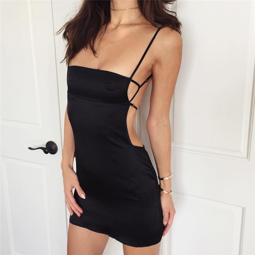 HTB1B0ijPVXXXXbrXpXXq6xXFXXXL - FREE SHIPPING Women Sexy Strapless Backless Satin Summer Dress JKP275