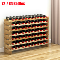 Wooden Red Wine Rack 7 layers Bottle Holder Mount Bar Display Shelf Wood Wine Rack Alcohol Neer Care Drink Bottle Holders