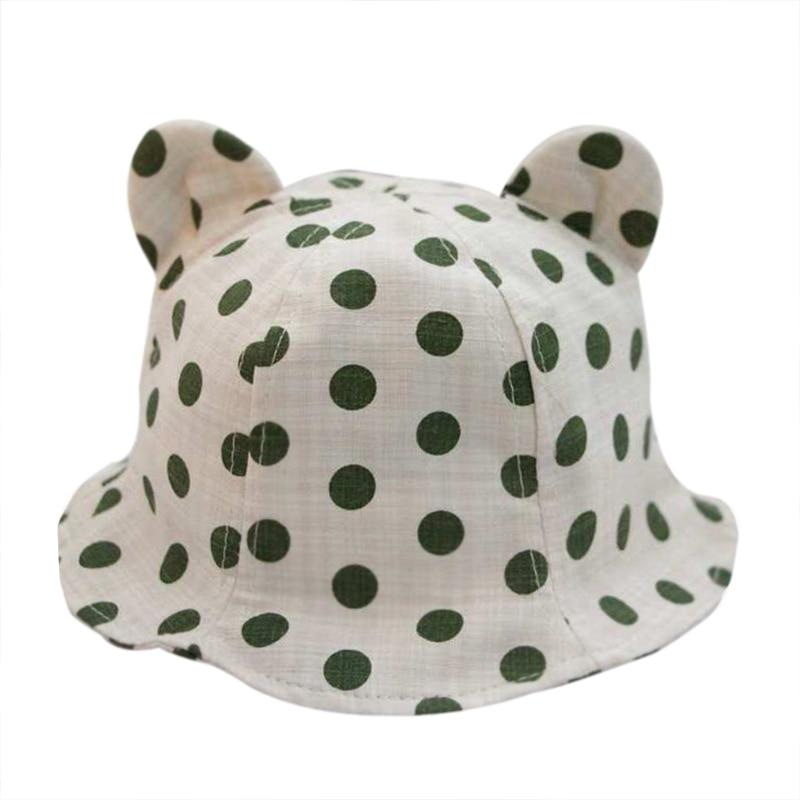 Nieuwe dot panama hoed baby katoen linnen zomer kinderen cap voor - Babykleding - Foto 5
