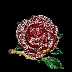 Image 3 - QIFU الحرف اليدوية Romanticred روز شكل مجوهرات وصيفه الشرف هدية