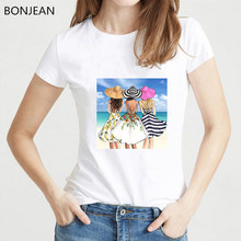 Friends tshirt women best friends tv show vogue t shirt femme summer top female white t-shirt kawaii clothes drop shipping(China)
