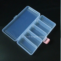 Plastic Jewelry Storage Box With 5 Dividers For Bracelet Organizer Jewelry Beads Packaging Box