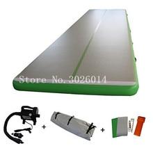 цена на Free Shipping 6x1x0.2m Inflatable Gymnastics Mattress Gym Tumble Airtrack Floor Tumbling Air Track With a Pump