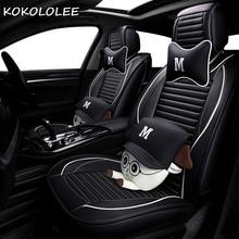 KOKOLOLEE pu car seat cover for mazda 3 /3 bk 6 /6 gg / 6 gh 626 cx3 cx5 cx7 demio megane 3 4 auto accessories car styling