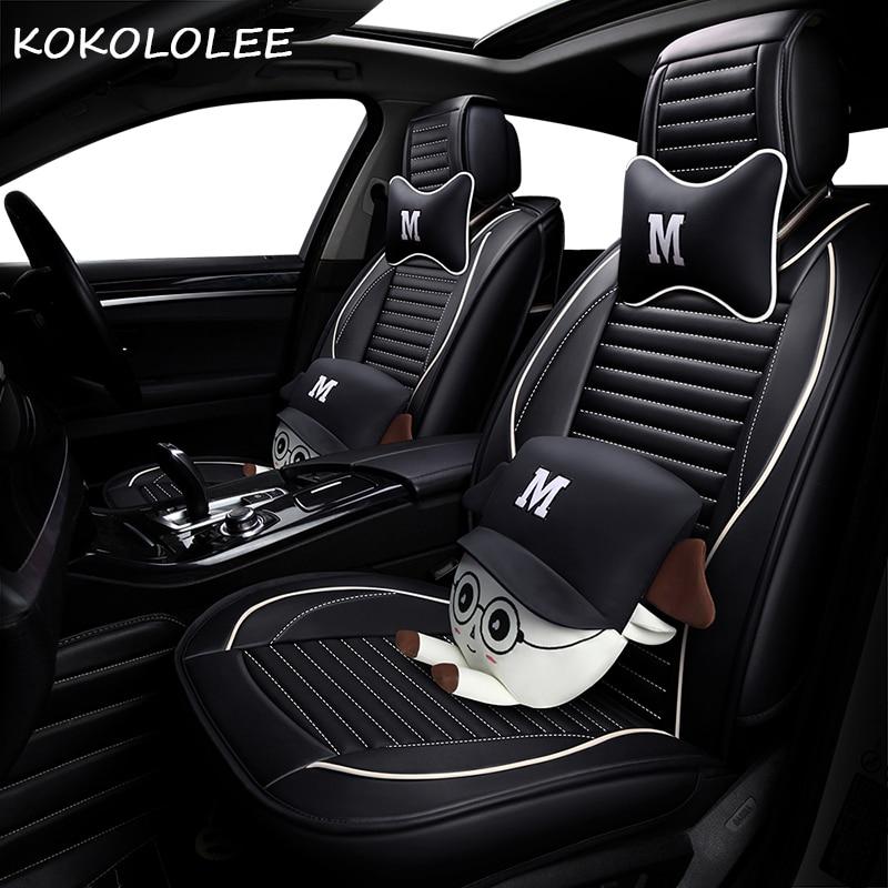 KOKOLOLEE pu car seat cover for mazda 3 /3 bk 6 /6 gg / 6 gh 626 cx3 cx5 cx7 demio megane 3 4 auto accessories car-styling