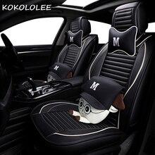 KOKOLOLEE pu pokrycie siedzenia samochodu dla mazda 3/3 bk 6/6 gg/6 gh 626 cx3 cx5 cx7 demio megane 3 4 akcesoria samochodowe samochód stylizacji