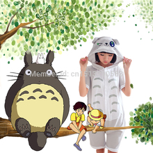 2016 New Animal Totoro Onesies Sleepwear Summer Unisex Costumes Sleepsuit Adult Cartoon Pajamas Nightwear Cosplay Free Shipping