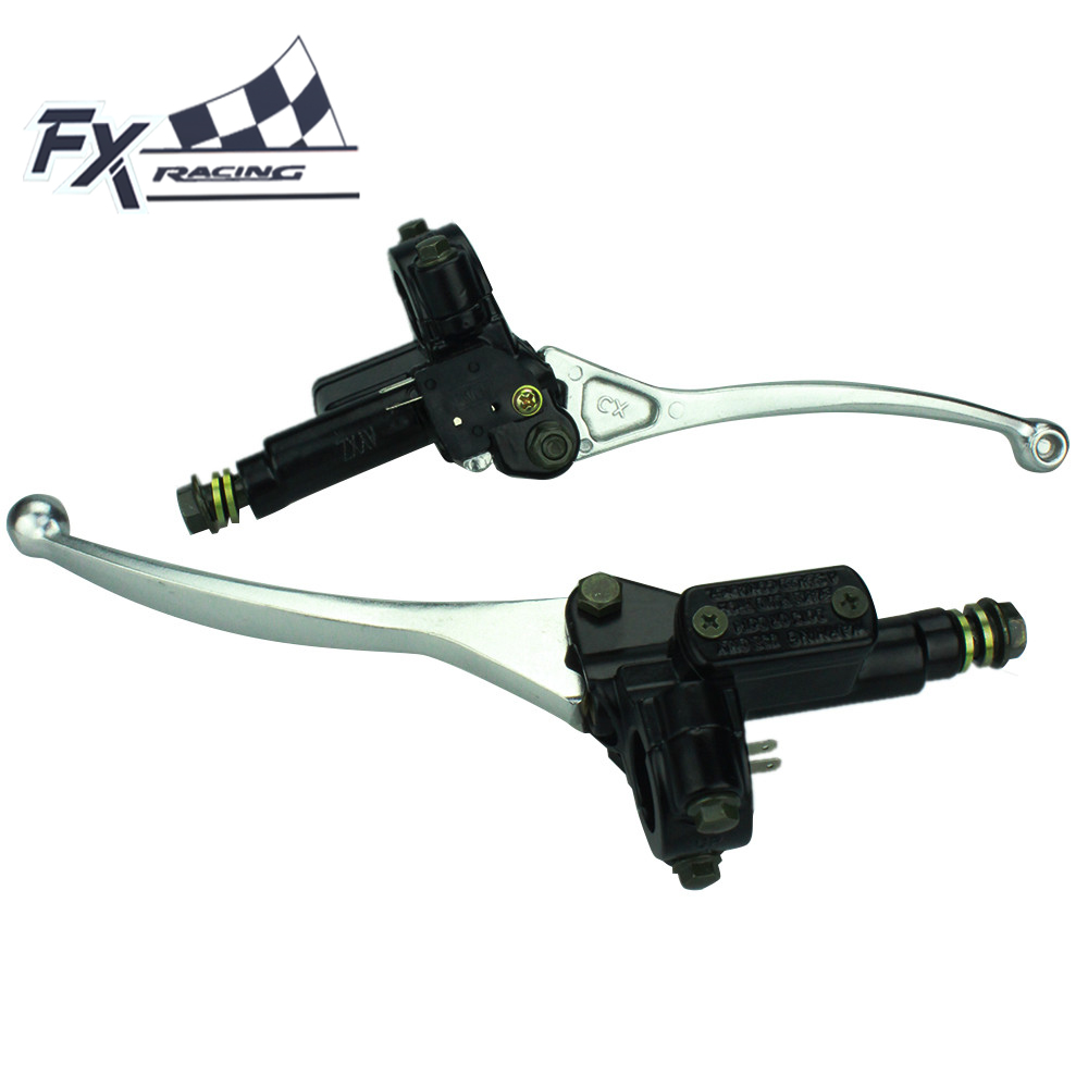 7/8 22mm Universal Handlebar Master Cylinder Hydraulic Motorcycle Brake Clutch Lever For 50CC-250CC ATV Dirt Pit Bike Moto 1 piece left or right 7 8 handlebar motorcycle hydraulic brake master cylinder clutch lever