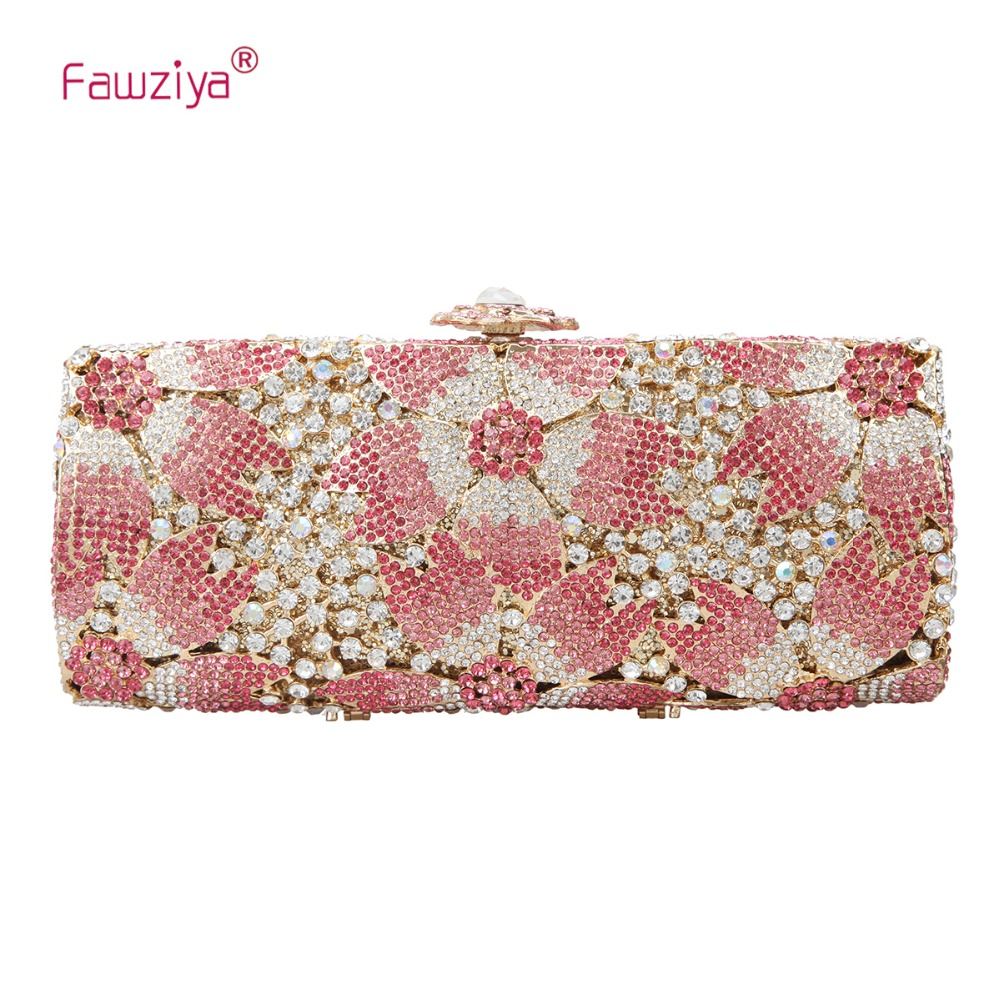 4f1257fd25 Fawziya Bling Sakura Floral Clutch Bags For Womens Evening Bags-in ...