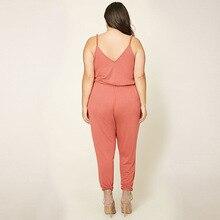 6XL Women Bodysuit 2017 Jumpsuit V-Neck Plus Size Women Rompers Body Big Size Overalls For Women