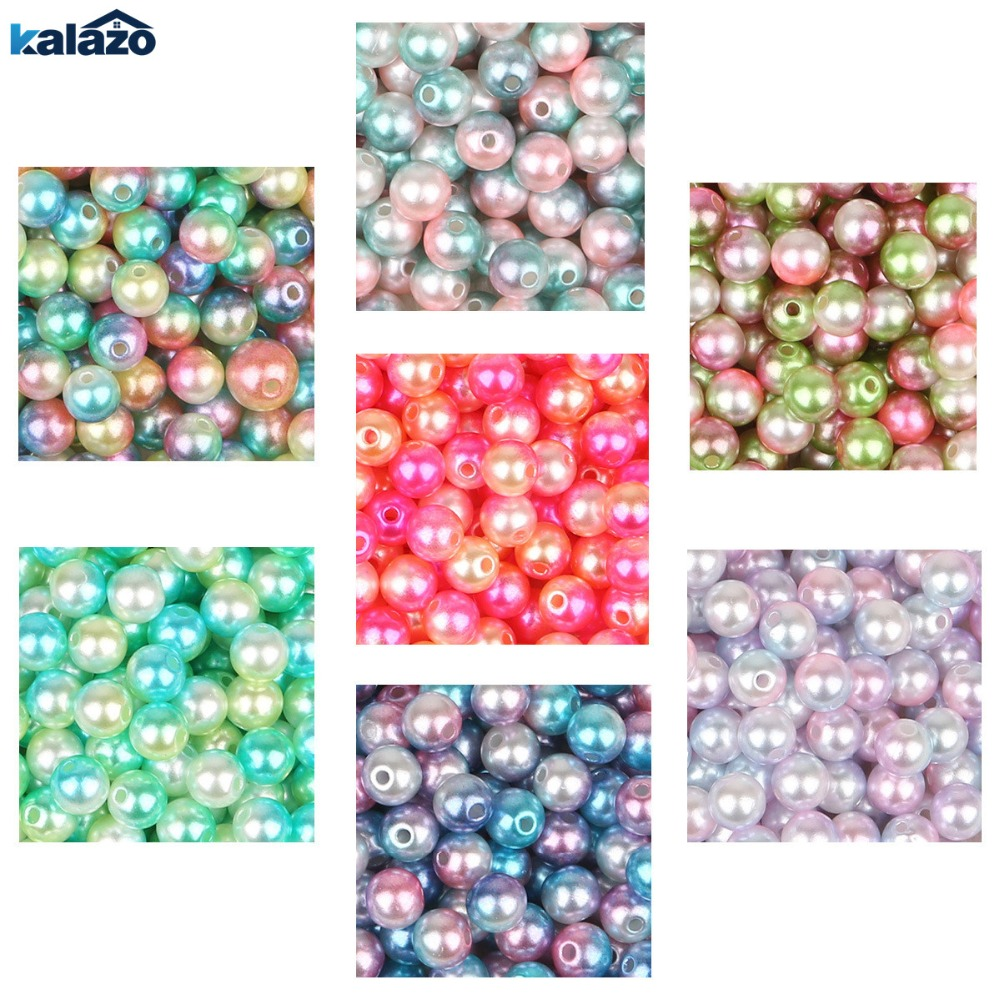 200pcs Beautiful 6mm Round Imitation Pearl Beads With/no Hole DIY Craft Scrapbook Supplies Wedding Birthday Party Decorations