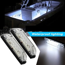 2X 4 Boat RV 6 LED LIGHT STRIP 12V Marine Accent Lighting Utility Strip Bar Waterproof Cabin Trailer Lights