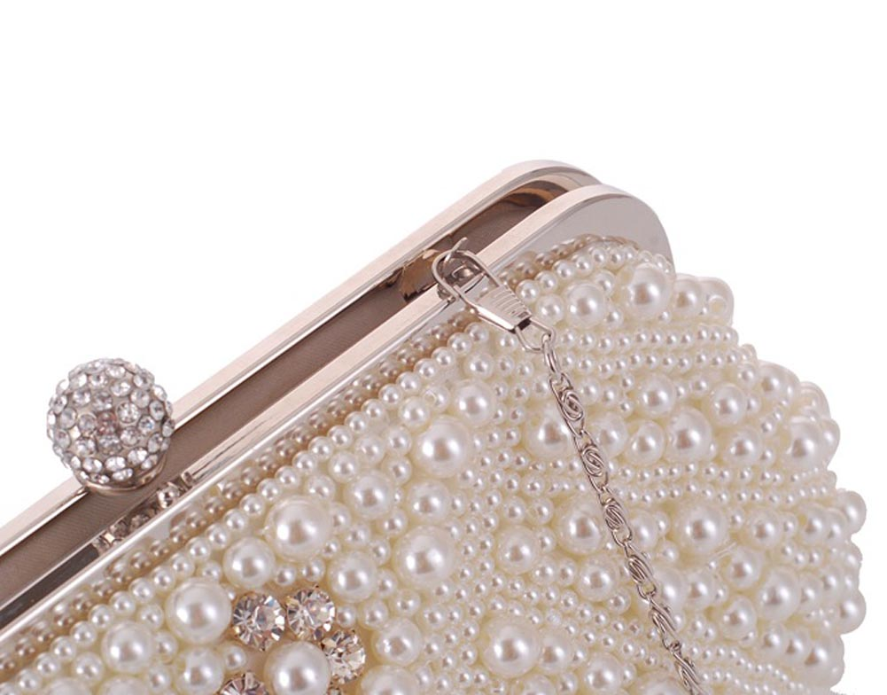 ccda36f3f5 Aliexpress.com   Buy Fashion Lady Evening Bags Gorgeous Imitation Pearl  Crystal Beading Bridal Wedding Party Clutch Bag Women Handbags LXX9 from  Reliable ...