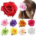 Модный Стекаются Ткань Красная Роза Цветок Зажим Для Волос Шпильки DIY Головной Убор Аксессуары Для Волос Для Свадебной
