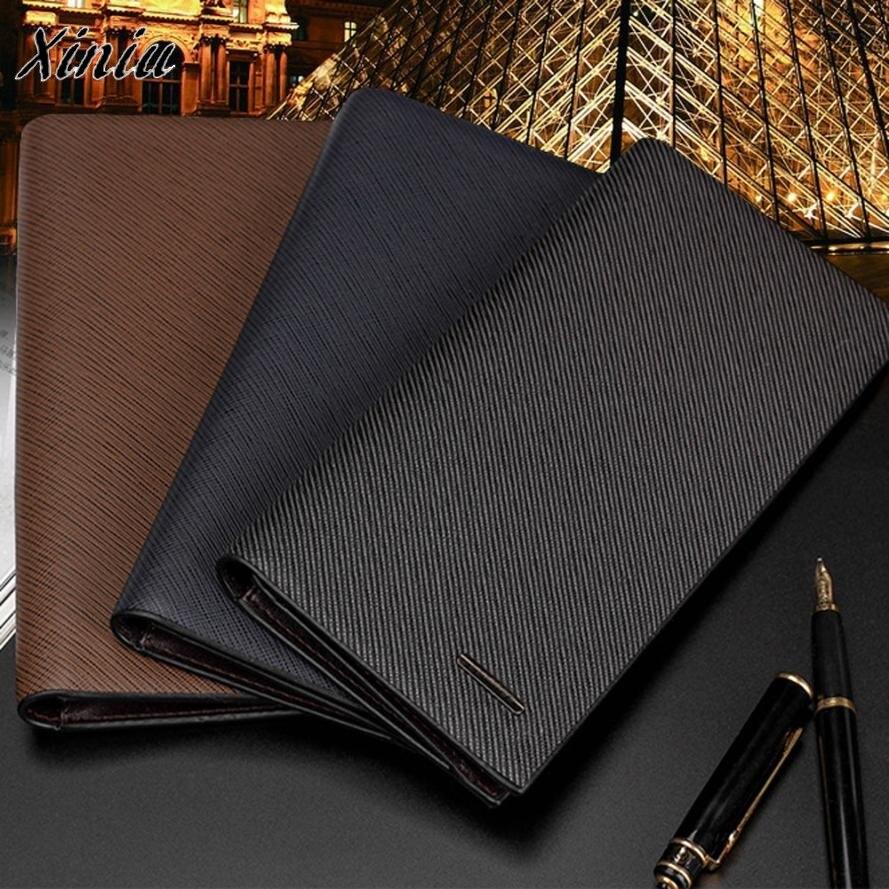 2018 Leather Passport Holder Men Wallet Stylish Bifold Business
