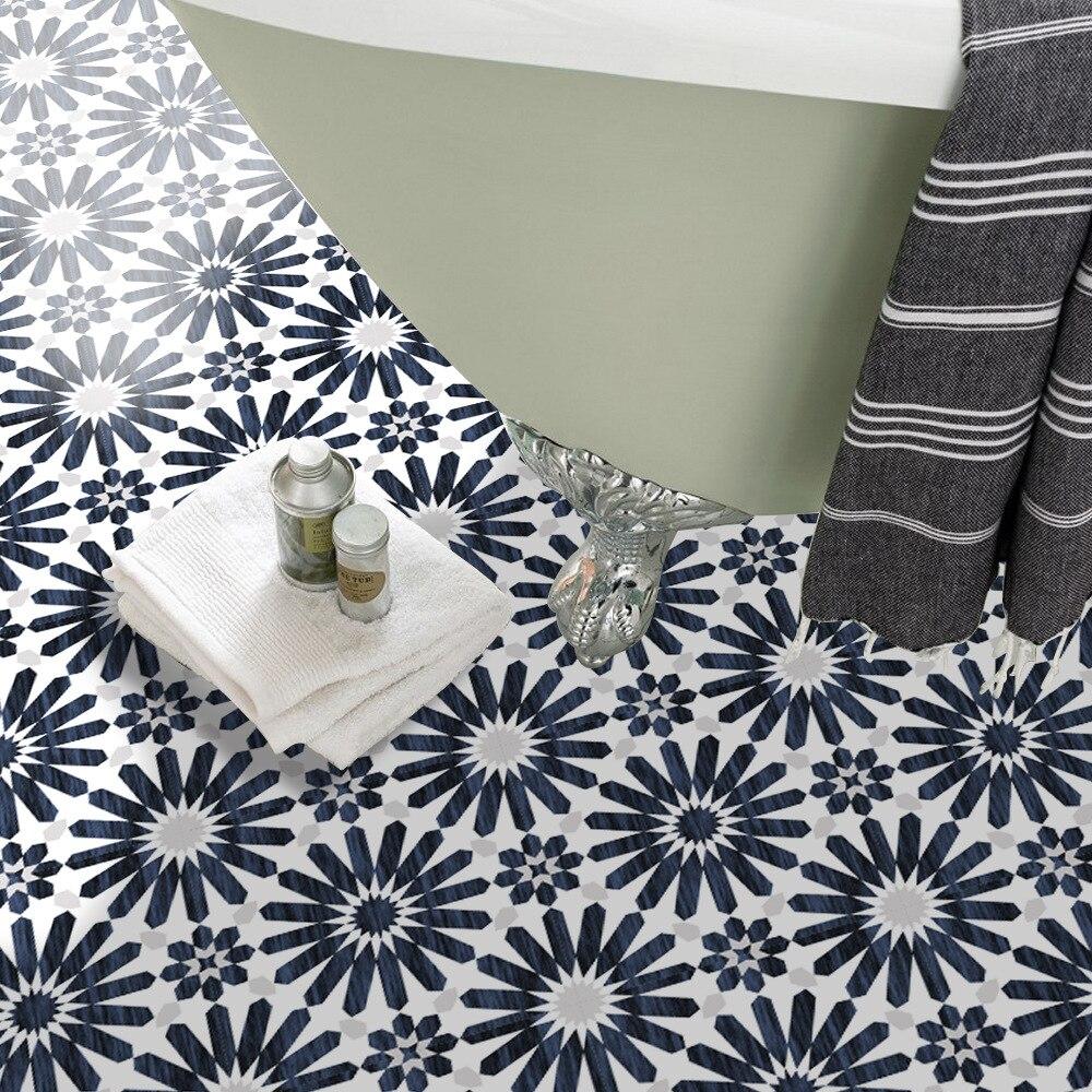 Nouveau modèle de sol de chambre à coucher décoration salon salle de bains carrelage autocollant imperméable autocollant mural autocollant de sol