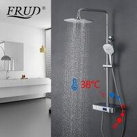 FRUD смеситель для душа хром водопад душевой смеситель; термостатический постоянная температура Душ смеситель настенный монтаж ванная комна