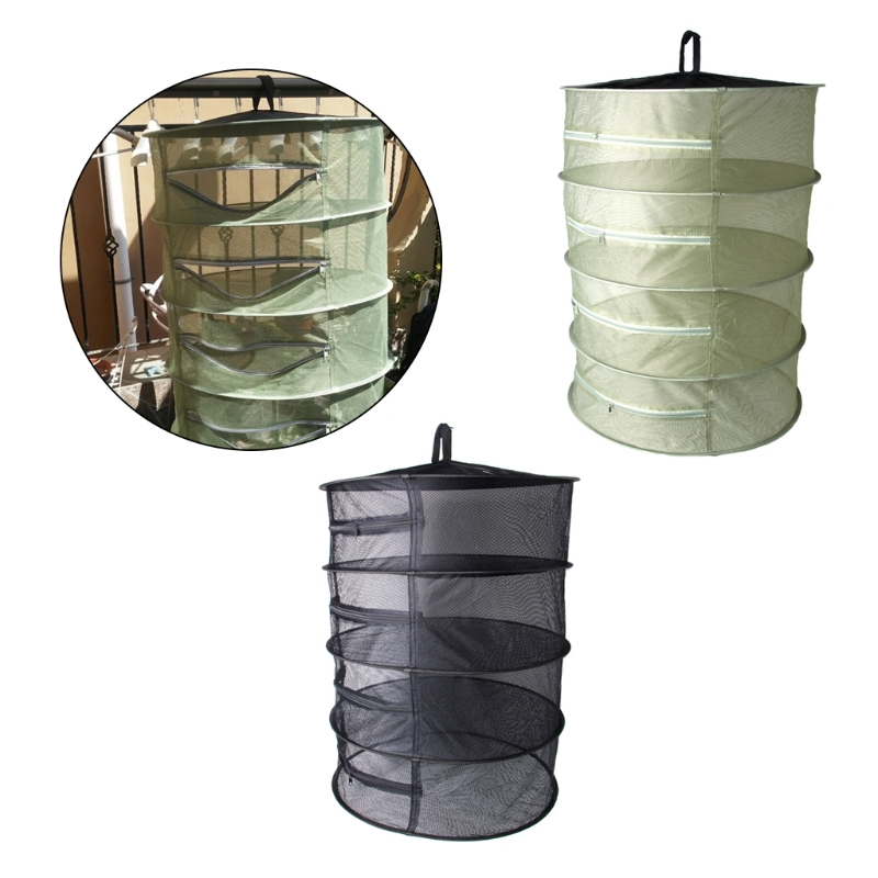 Collapsible 4 Layer Mesh Dry Net Hanging Herbal Bud Plant Clothes Drying Rack 4 drying c ...