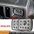 Универсальный Fit 7x6 45 Вт 55 Вт 7x5 Квадратных Высокая Ближнего света 12 В 24 В СВЕТОДИОДНЫЕ Фары Для H6054 H6052 F350 Cherokee C1500 K1500 K2500 X2pcs