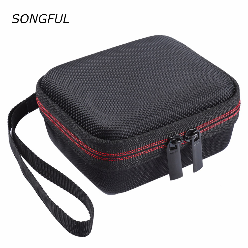 Carry Wireless Bluetooth Speakers Hard EVA Cases For JBL GO With Mesh Pocket For Charger Cables Strap Zipper Holding hands Box