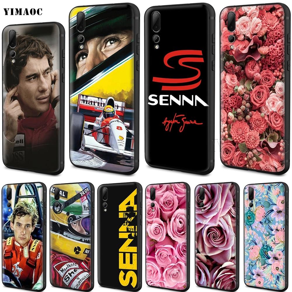 YIMAOC Ayrton Senna Silicone Case for Huawei Mate 10 P8 P9 P10 P20 Lite Pro P Smart Mini 2017