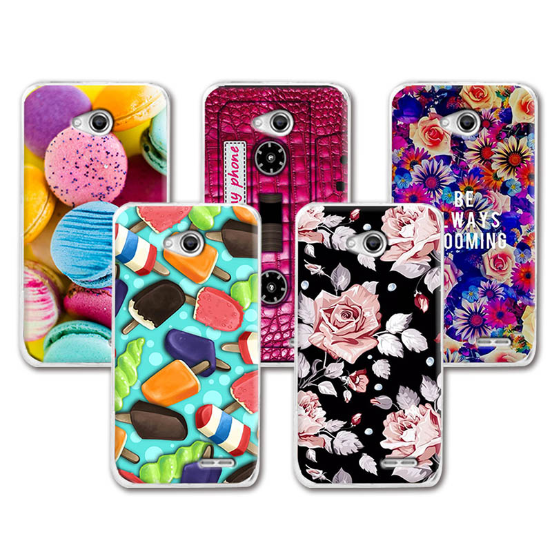 Lovely Fashion Painted Case For L65 Dual D285 D280 LG L70 D325 D320, Art printed Cute Fundas Case Cover For LG L70 LG L65 4.5''