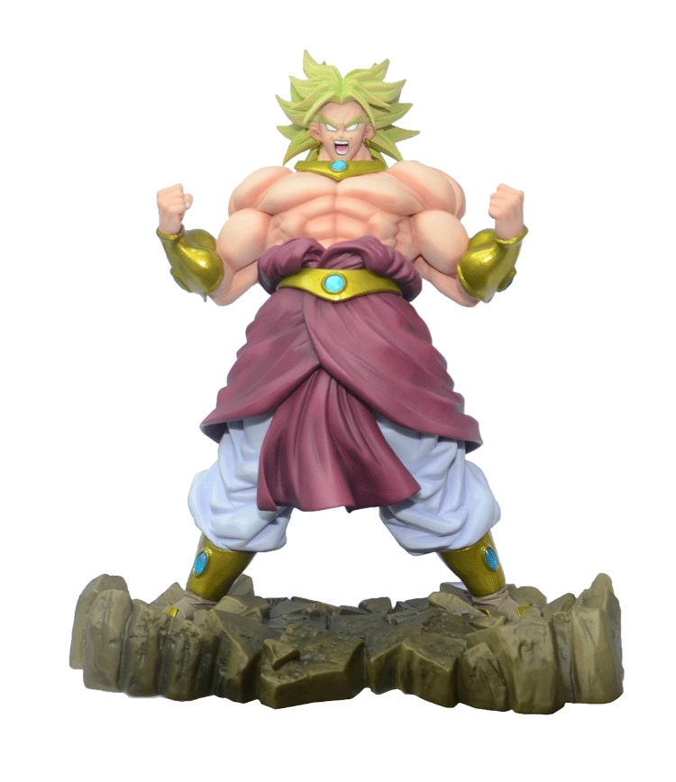 Dragon Ball Z Broli Broly Figure Legendary Super Saiyan Broli Son Goku Radish Kakarotto 25CM PVC  Action Figure Model Kids new hot 21cm dragon ball super saiyan 3 son goku kakarotto action figure toys doll collection christmas gift with box sy889