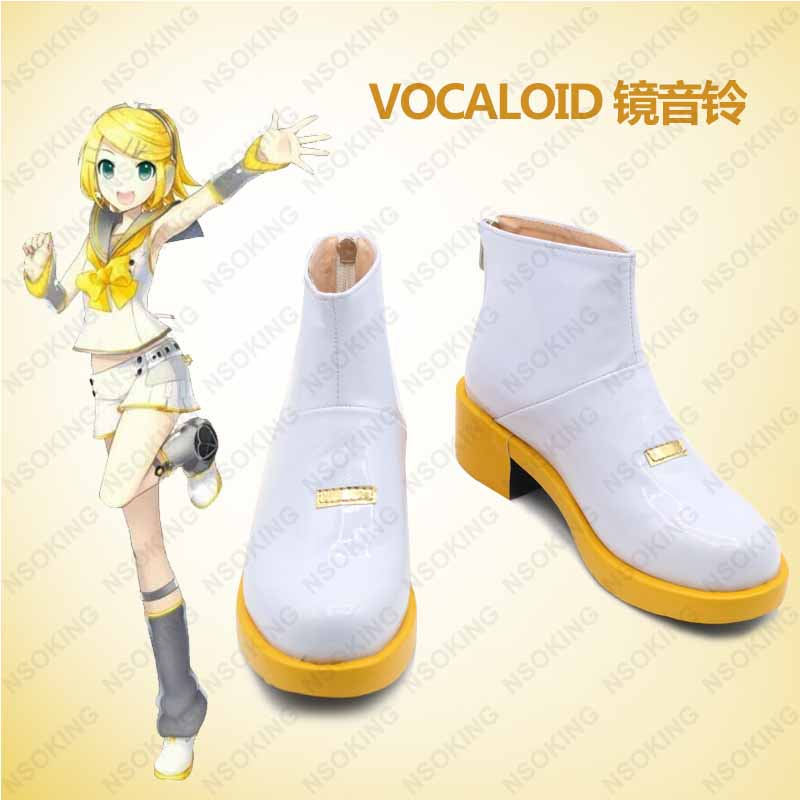Bottes Cosplay vocaloïde Kagamine Rin Hatsune Miku chaussures Anime sur mesure