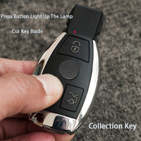3 Buttons Smart Remote Key For Mercedes Benz Auto Remote Key Cut Insert Key Blade With Chip Collection Key
