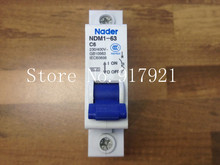 [ZOB] Nader letter NDM1-63 C6 genuine new miniature circuit breaker 1P6A air switch  --20PCS/LOT