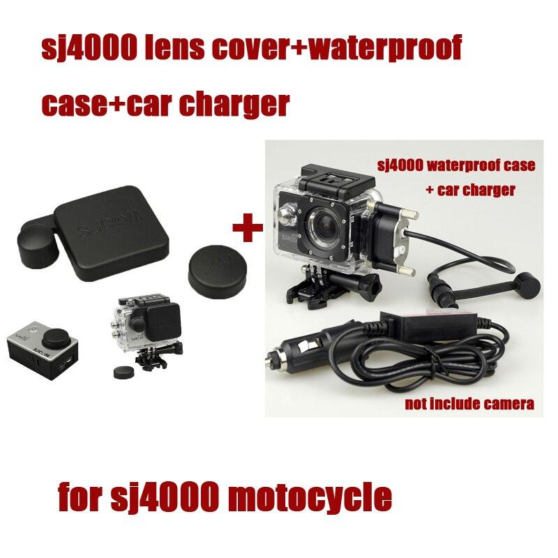 Оригинальный SJ4000 Водонепроницаемый случае Корпуса машины Зарядное устройство + кабель USB + крышка объектива для <font><b>SJCAM</b></font> SJ 4000 WiFi плюс для мотоцикл&#8230;