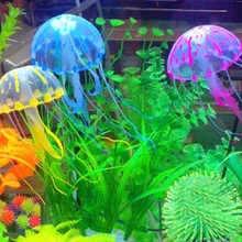 """5,5 """"светящийся эффект Искусственные Поддельные флуоресцентные медузы аквариума Aquario Подводное украшение орнамент аксессуары"""