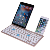 Professional 10m Range Metal Ultra Thin Wireless Bluetooth Portable Keyboard With Phone Holder For IOS Android