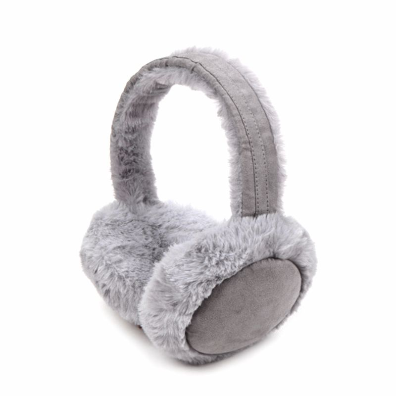 Women Adult Winter Thicken Plush Earmuffs Sweet Solid Candy Color Earflap Foldable Travel Portable Ear Cover Warmer Headband
