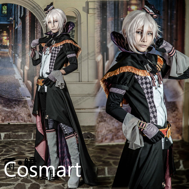 [Customize]Anime IDOLiSH 7 VS TRIGGER Ten Kujyou SJ Uniform Retro Dress Halloween Cosplay Costume For Adult New free ship image