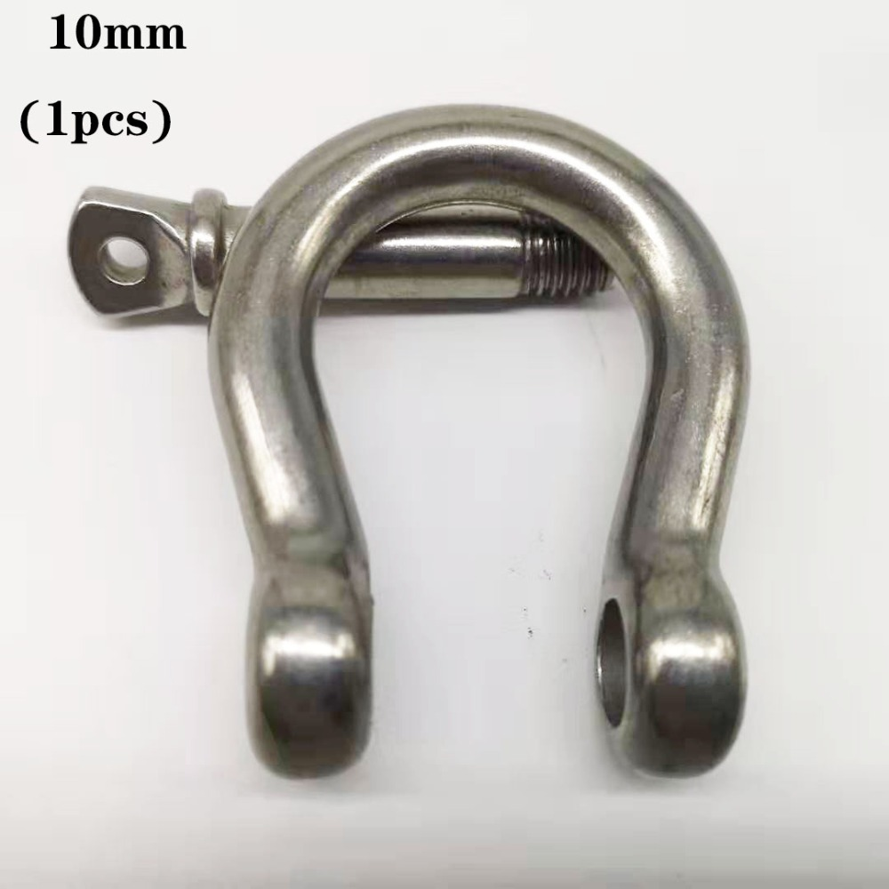 10mm, 1pcs STAINLESS STEEL 304 BOAT SCREW-PIN BOW SHACKLE