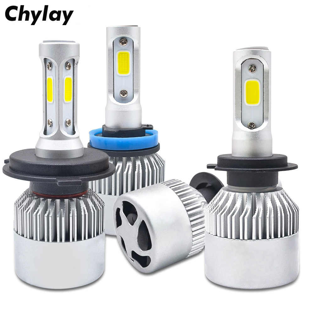 One Set H11 Led H1 H7 H4 H3 H8 HB3 HB4 9005 9006 LED Headlight Bulb 72W 8000LM 6500k Auto Car Headlamp Fog Light Bulbs 12V 24V